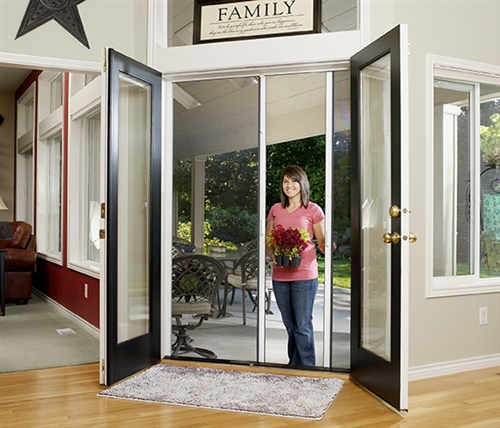 Custom Double Panel Retractable Screen Door