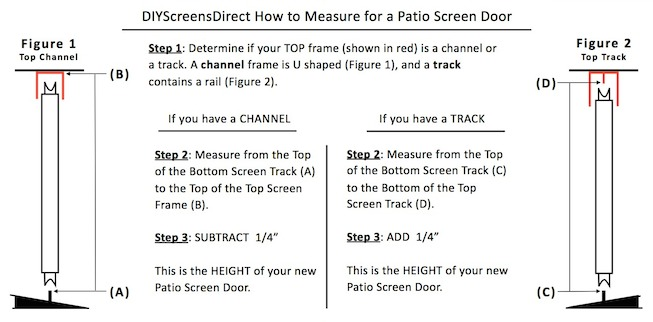 How to measure patio screen doors